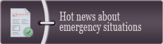 Hot news about emergency situations