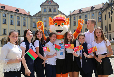 Flame of Peace relay of 2nd European Games travels across Nesvizh