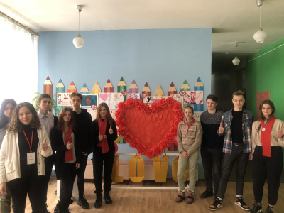 A thematic game and information sessions for Valentine's Day were conducted by volunteers of the BRCS Kind Heart